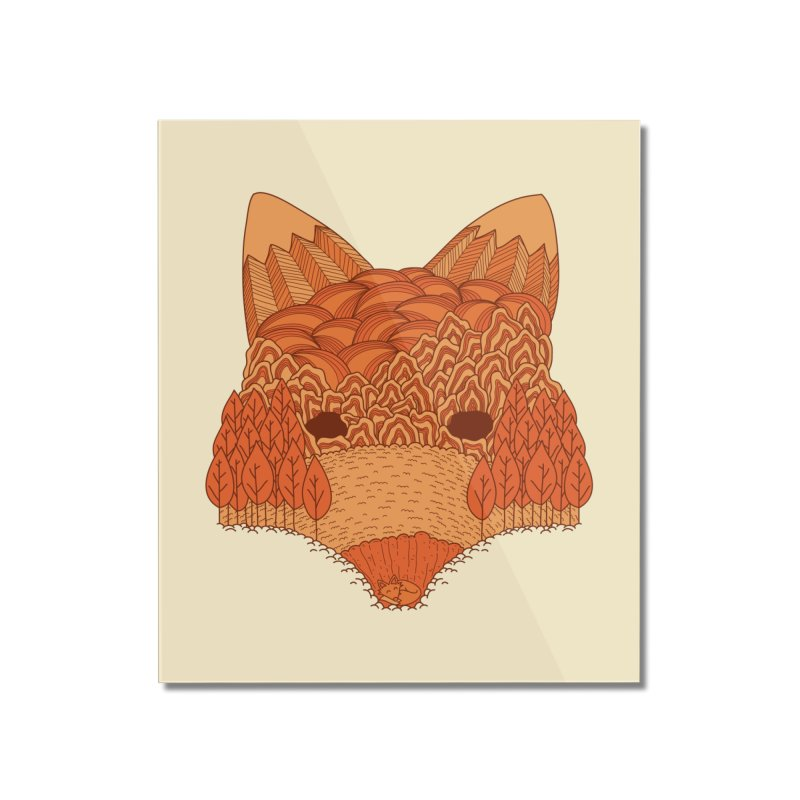Where The Fox Hides Home Mounted Acrylic Print by monochromefrog