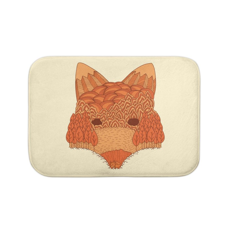 Where The Fox Hides Home Bath Mat by monochromefrog