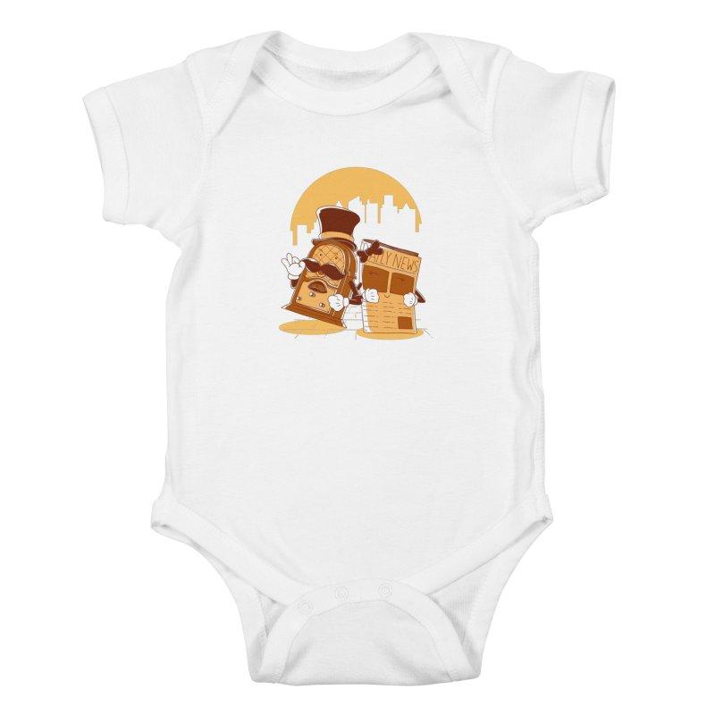 Old Timer's Stroll Kids Baby Bodysuit by monochromefrog