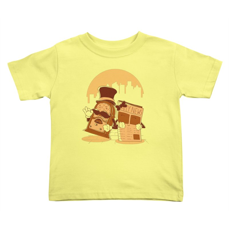 Old Timer's Stroll Kids Toddler T-Shirt by monochromefrog