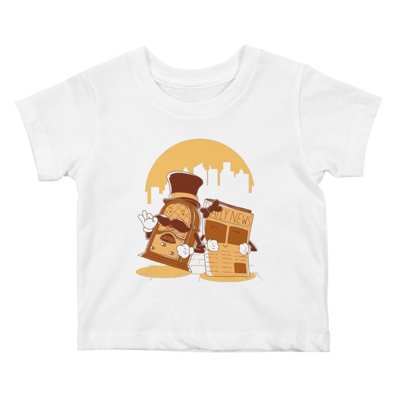Old Timer's Stroll Kids Baby T-Shirt by monochromefrog