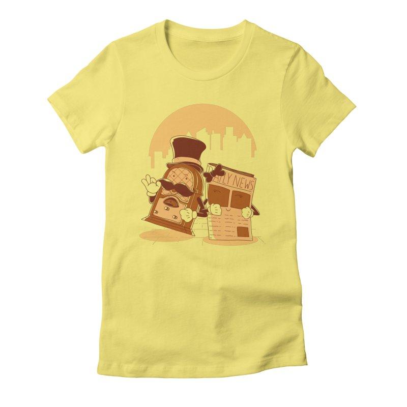 Old Timer's Stroll Women's T-Shirt by monochromefrog