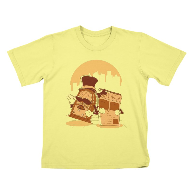 Old Timer's Stroll Kids T-shirt by monochromefrog