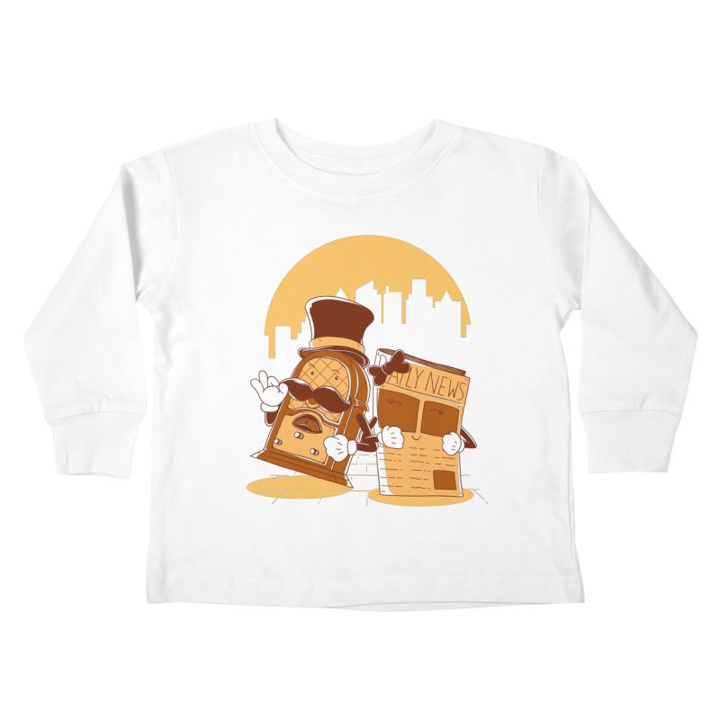 Old Timer's Stroll Kids Toddler Longsleeve T-Shirt by monochromefrog