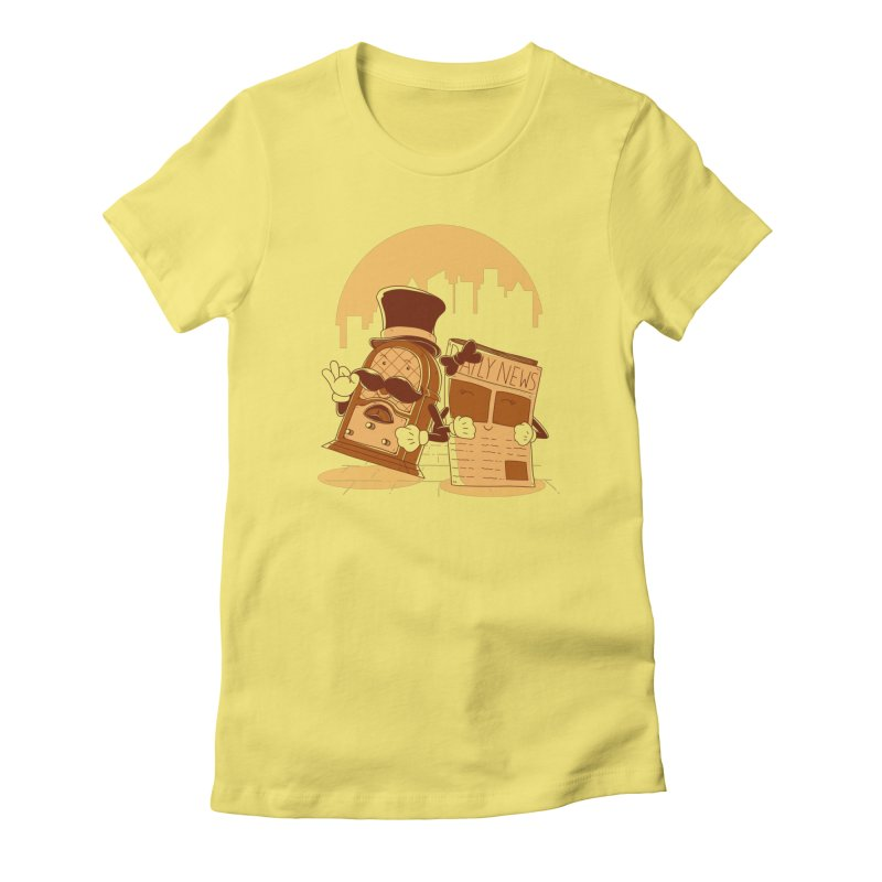 Old Timer's Stroll Women's T-Shirt by monochromefrog