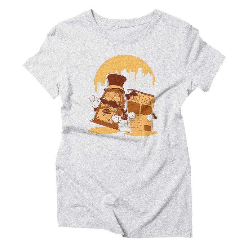 Old Timer's Stroll Women's Triblend T-Shirt by monochromefrog