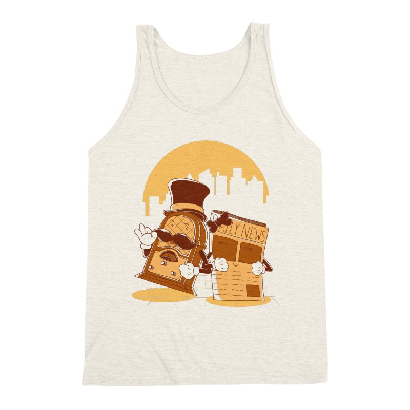 Old Timer's Stroll Men's Triblend Tank by monochromefrog