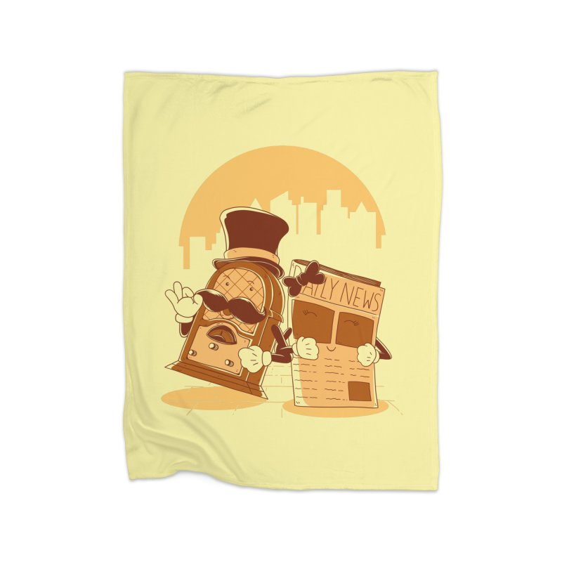 Old Timer's Stroll Home Fleece Blanket Blanket by monochromefrog