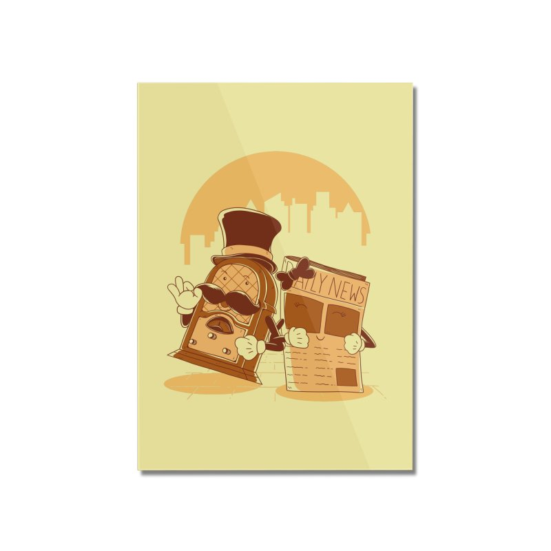 Old Timer's Stroll Home Mounted Acrylic Print by monochromefrog