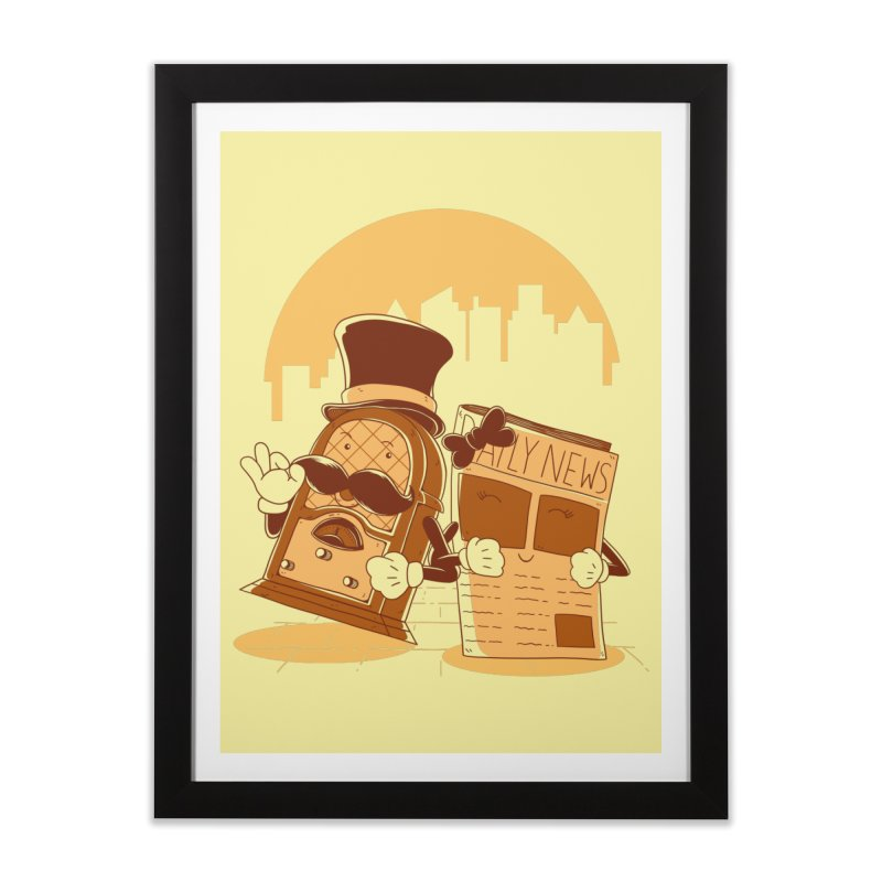 Old Timer's Stroll Home Framed Fine Art Print by monochromefrog
