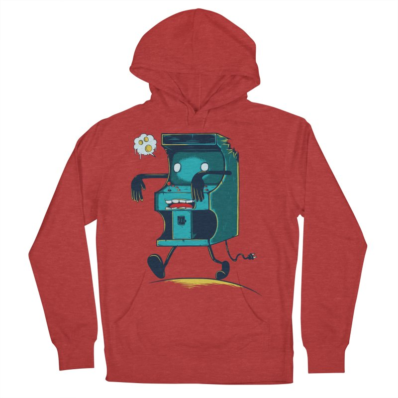 Zombie Arcade Women's French Terry Pullover Hoody by monochromefrog