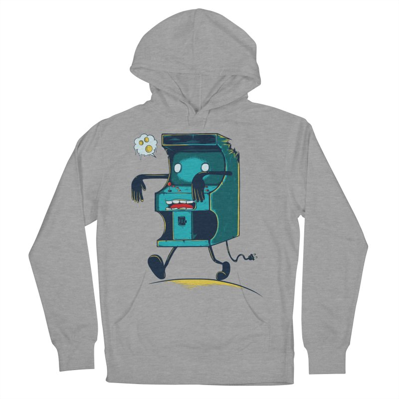 Zombie Arcade Men's French Terry Pullover Hoody by monochromefrog