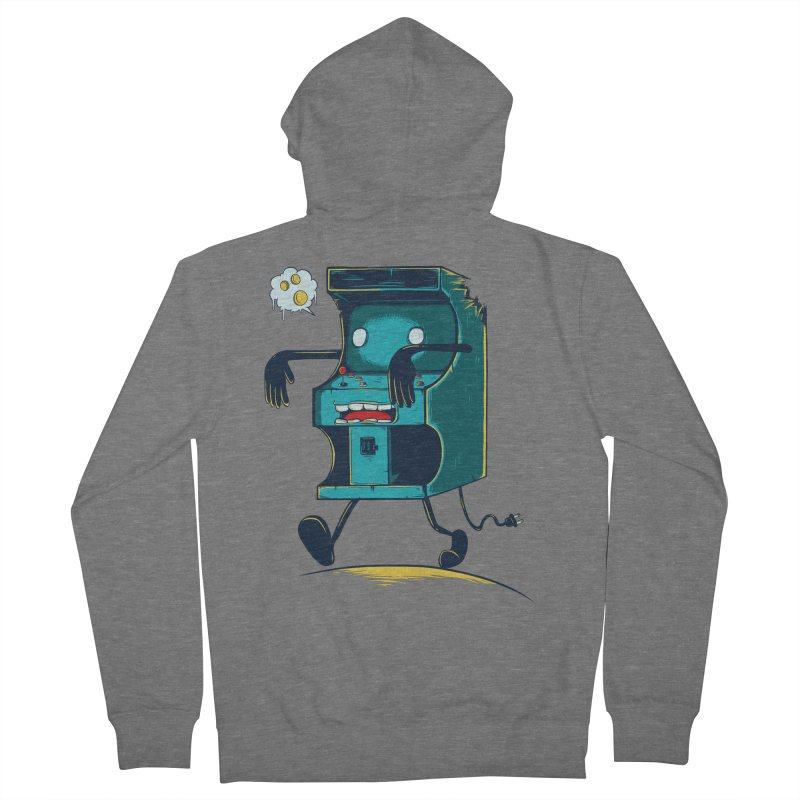Zombie Arcade Men's French Terry Zip-Up Hoody by monochromefrog