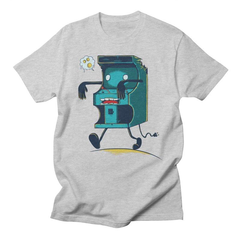 Zombie Arcade Men's Regular T-Shirt by monochromefrog