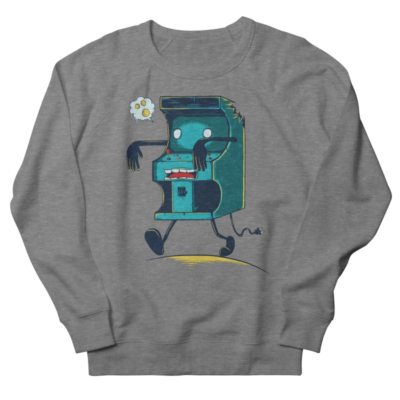 Zombie Arcade Women's French Terry Sweatshirt by monochromefrog