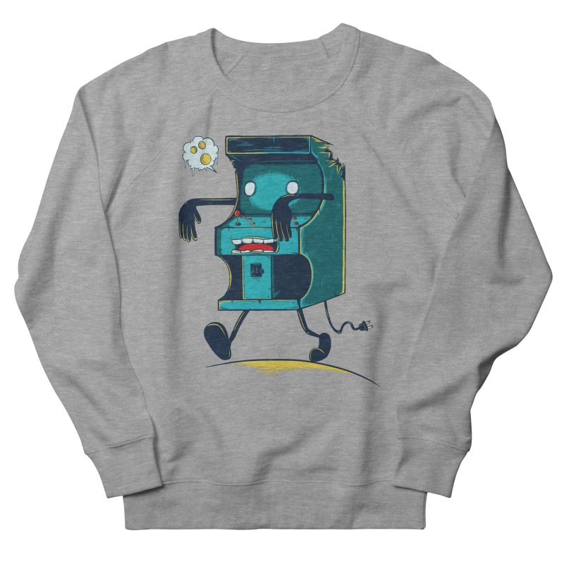 Zombie Arcade Men's French Terry Sweatshirt by monochromefrog