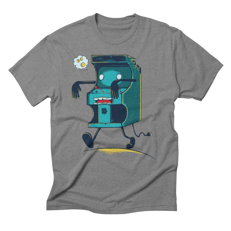 Zombie Arcade Men's T-Shirt by monochromefrog