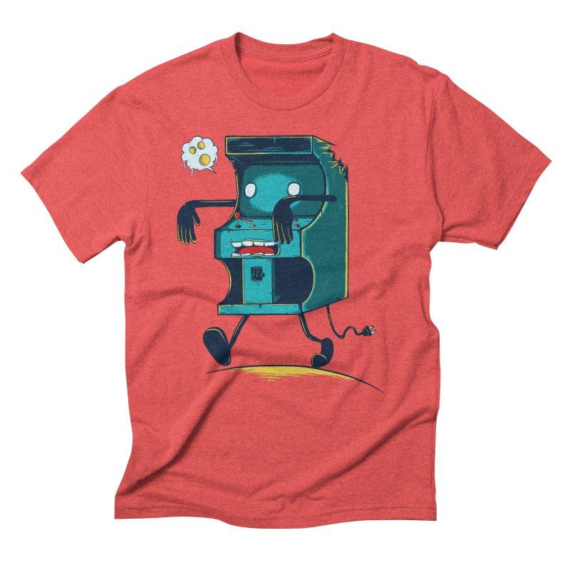 Zombie Arcade Men's Triblend T-shirt by monochromefrog