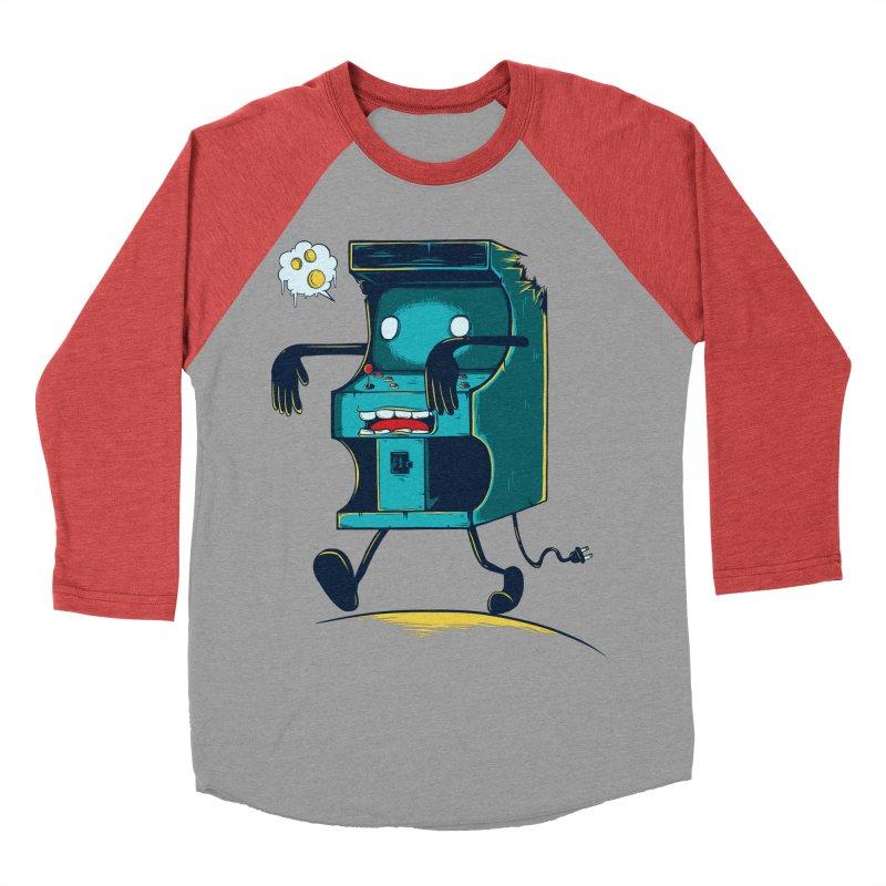 Zombie Arcade Women's Baseball Triblend Longsleeve T-Shirt by monochromefrog
