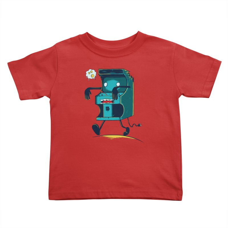 Zombie Arcade Kids Toddler T-Shirt by monochromefrog