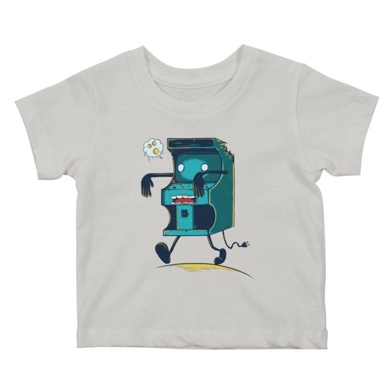 Zombie Arcade Kids Baby T-Shirt by monochromefrog