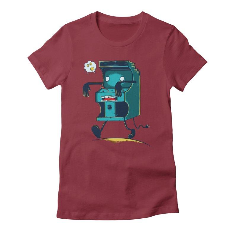 Zombie Arcade Women's T-Shirt by monochromefrog