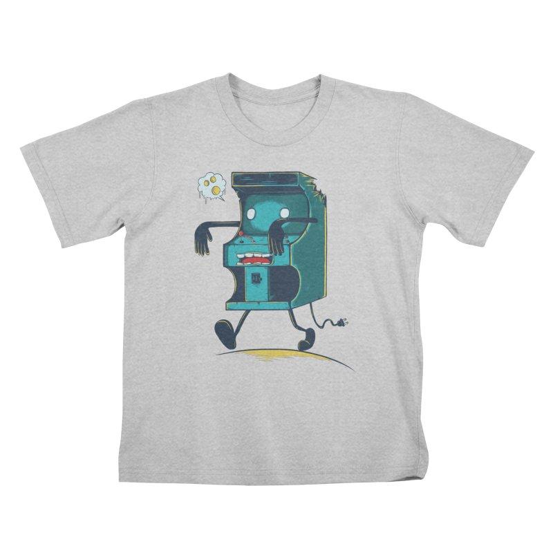 Zombie Arcade Kids T-Shirt by monochromefrog