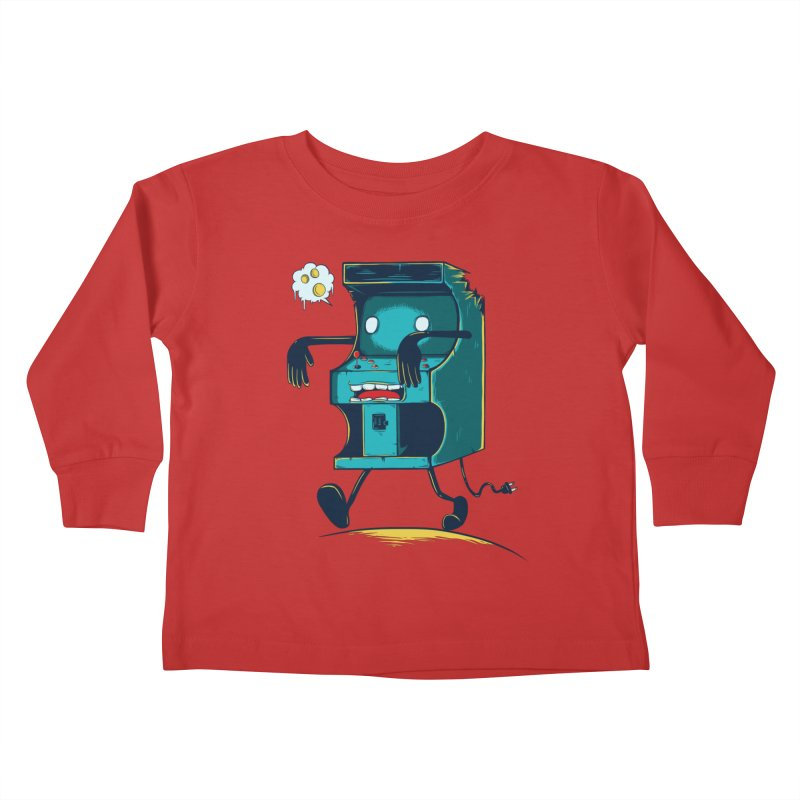 Zombie Arcade Kids Toddler Longsleeve T-Shirt by monochromefrog