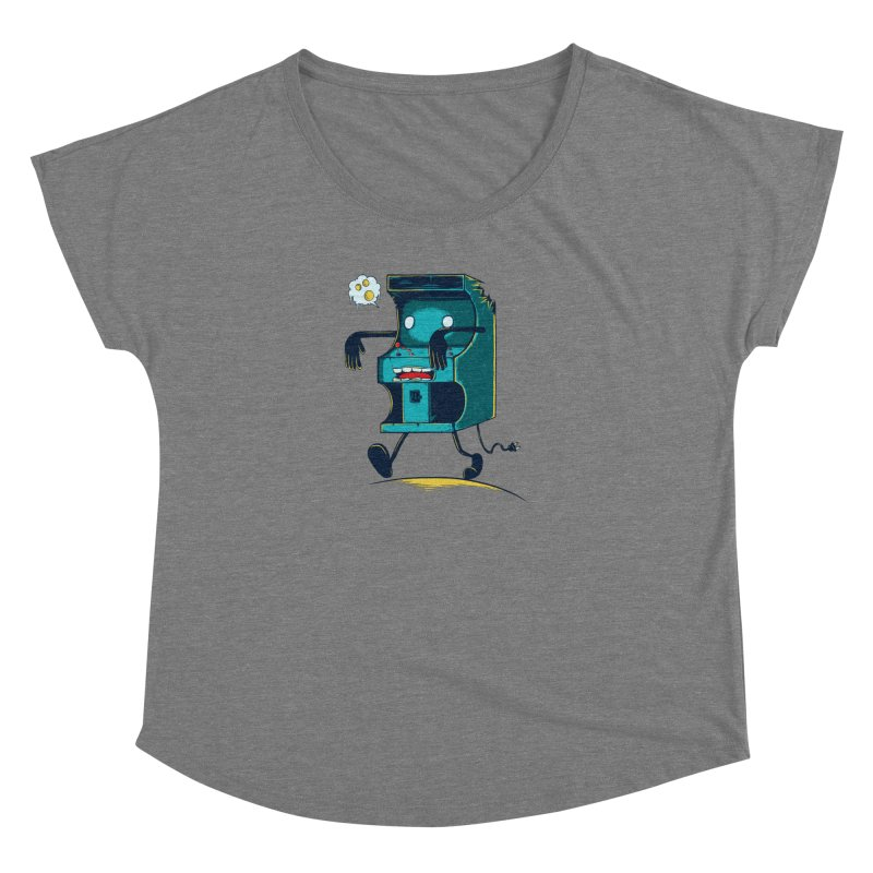 Zombie Arcade Women's Scoop Neck by monochromefrog