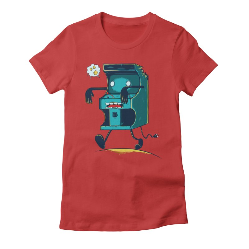 Zombie Arcade Women's Fitted T-Shirt by monochromefrog