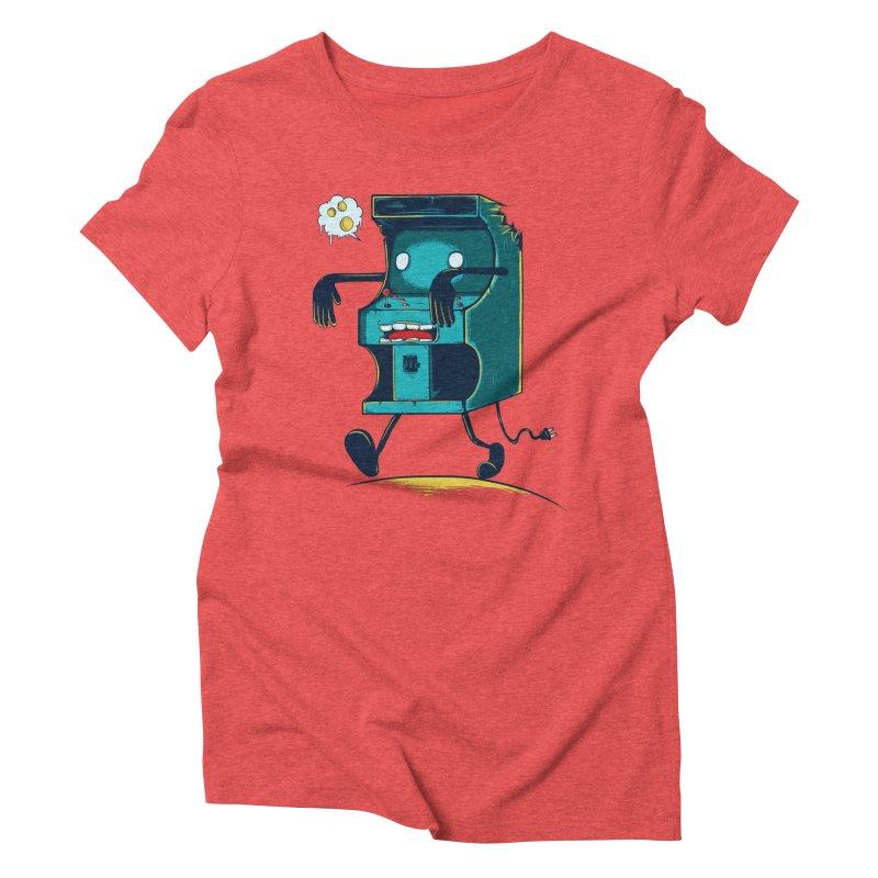 Zombie Arcade Women's Triblend T-shirt by monochromefrog
