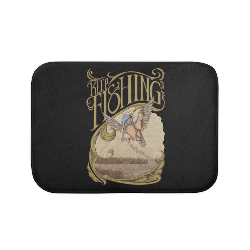 Fishing King Home Bath Mat by monochromefrog