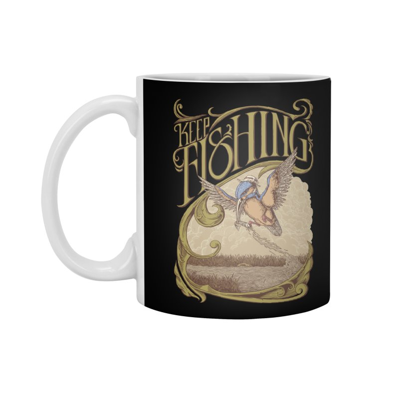 Fishing King Accessories Mug by monochromefrog