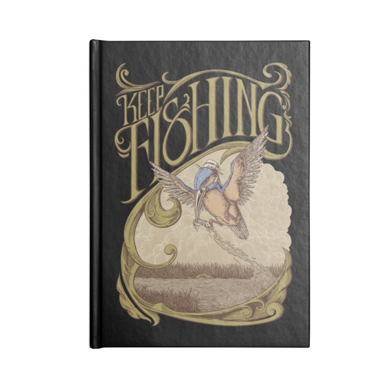 Fishing King Accessories Notebook by monochromefrog