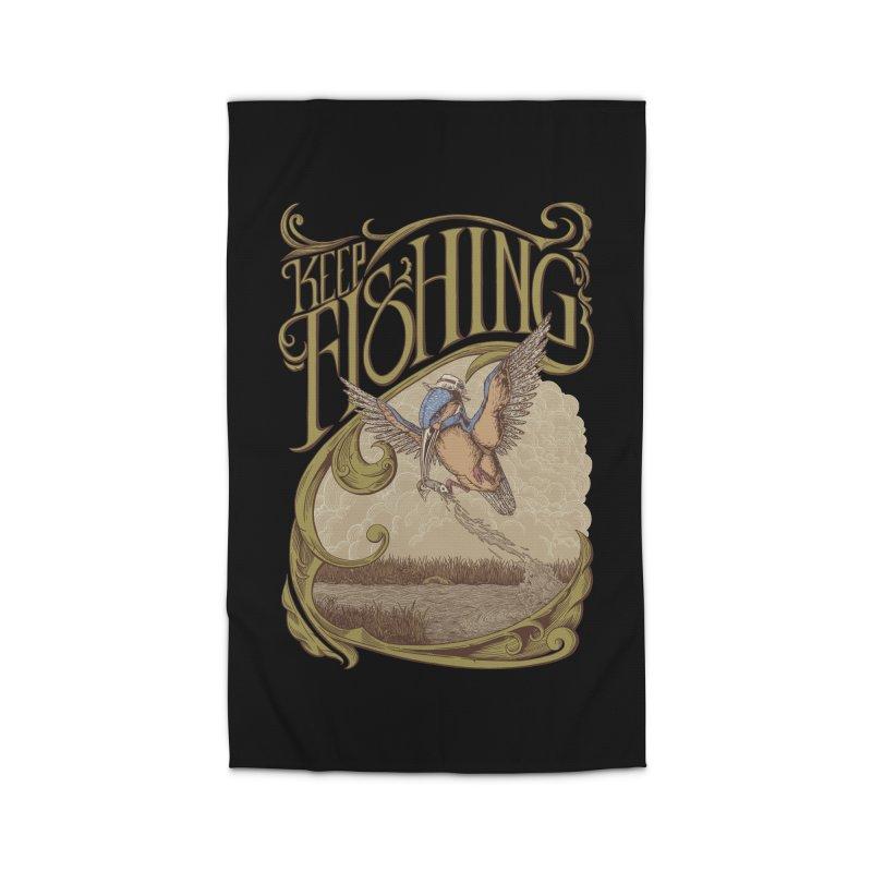 Fishing King Home Rug by monochromefrog