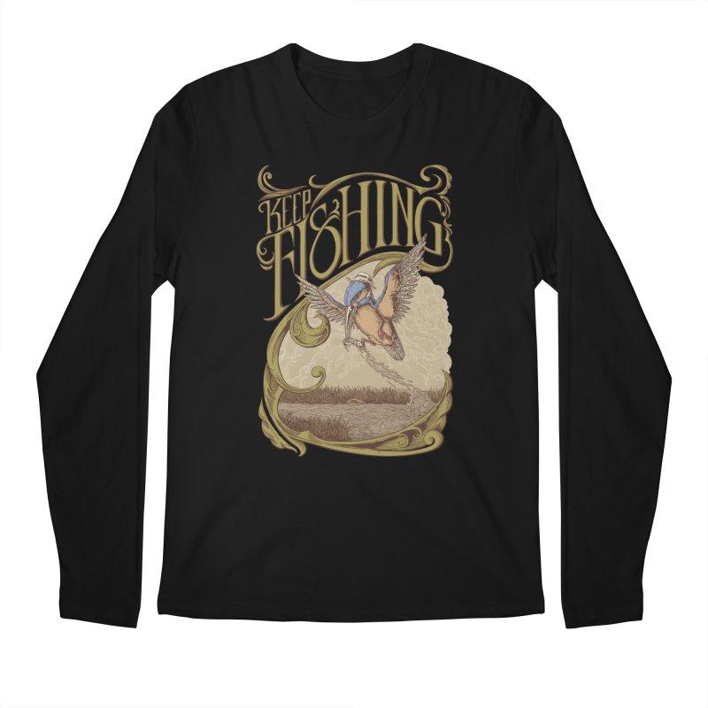 Fishing King Men's Longsleeve T-Shirt by monochromefrog