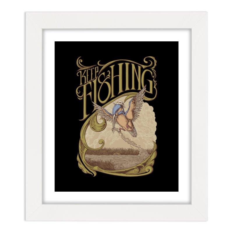 Fishing King Home Framed Fine Art Print by monochromefrog