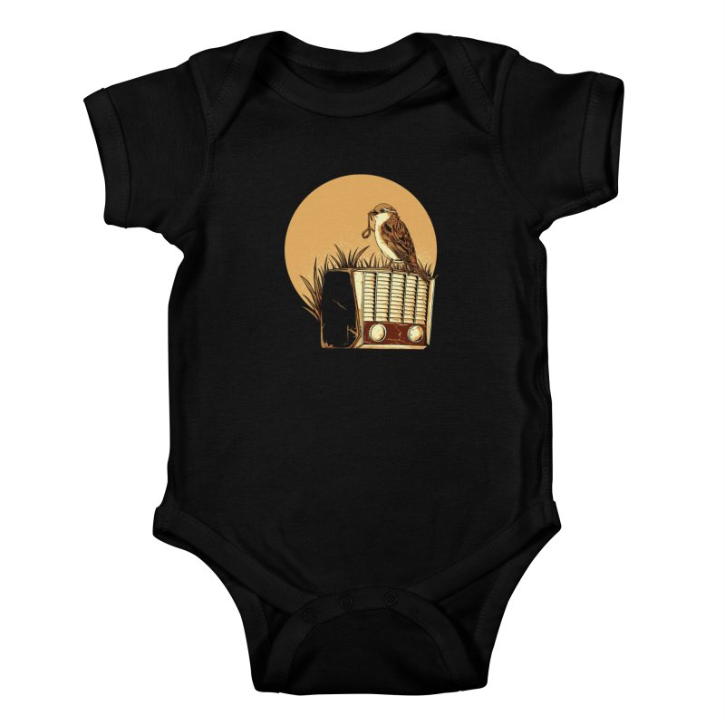 Re-Tune Kids Baby Bodysuit by monochromefrog