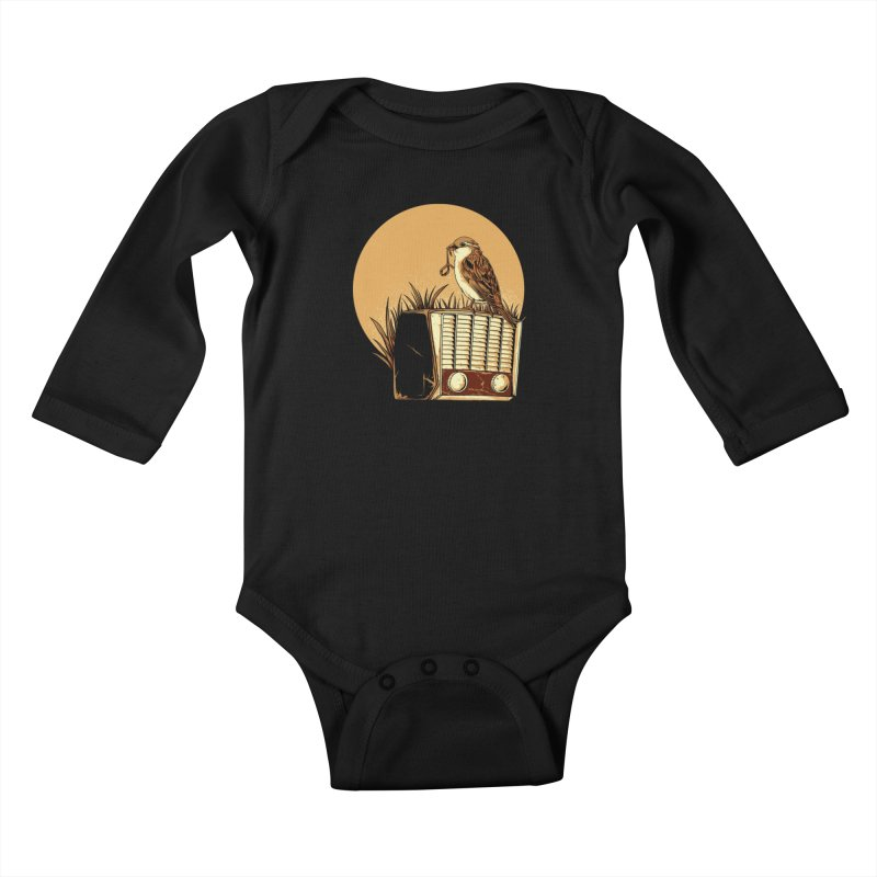Re-Tune Kids Baby Longsleeve Bodysuit by monochromefrog