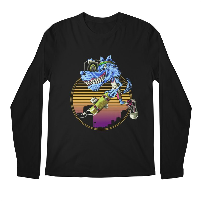 Air Wolf Men's Longsleeve T-Shirt by monochromefrog