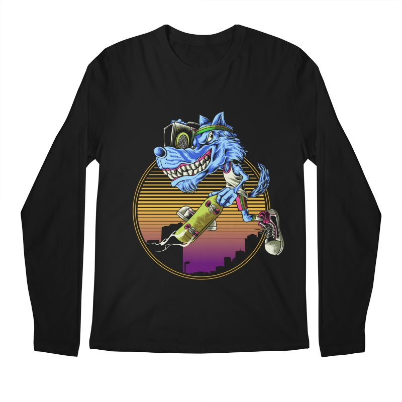 Air Wolf Men's Regular Longsleeve T-Shirt by monochromefrog