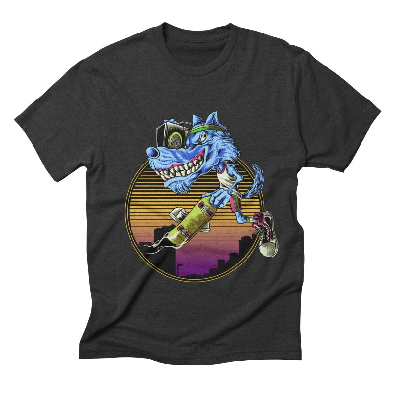 Air Wolf Men's Triblend T-Shirt by monochromefrog