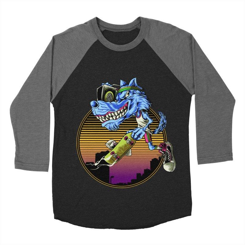 Air Wolf Women's Baseball Triblend Longsleeve T-Shirt by monochromefrog