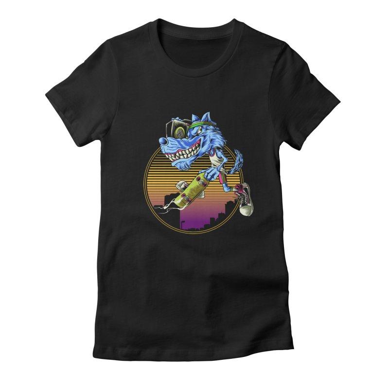 Air Wolf Women's T-Shirt by monochromefrog