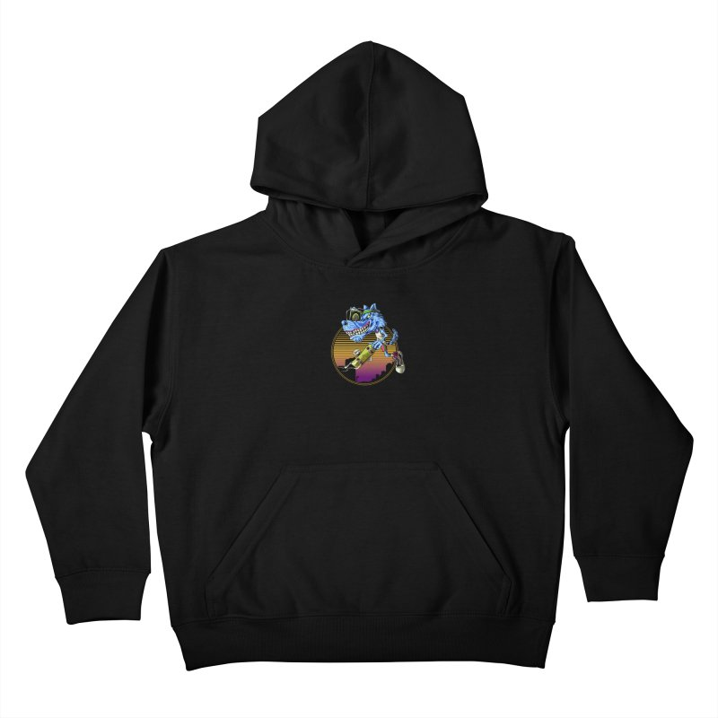 Air Wolf Kids Pullover Hoody by monochromefrog