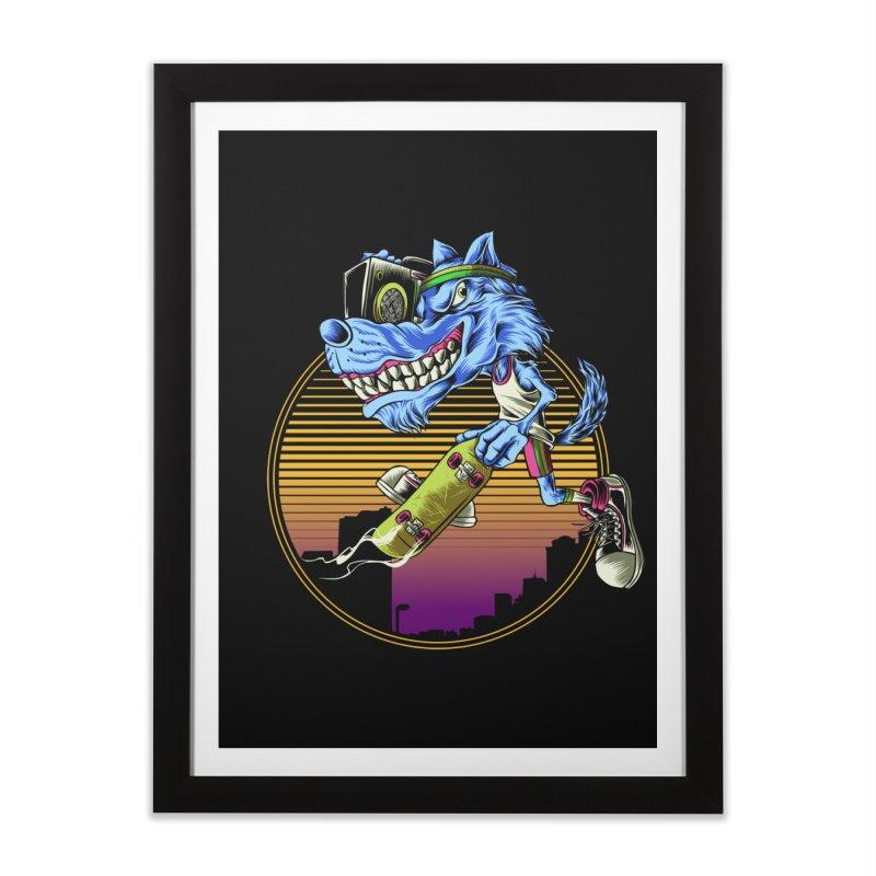 Air Wolf Home Framed Fine Art Print by monochromefrog