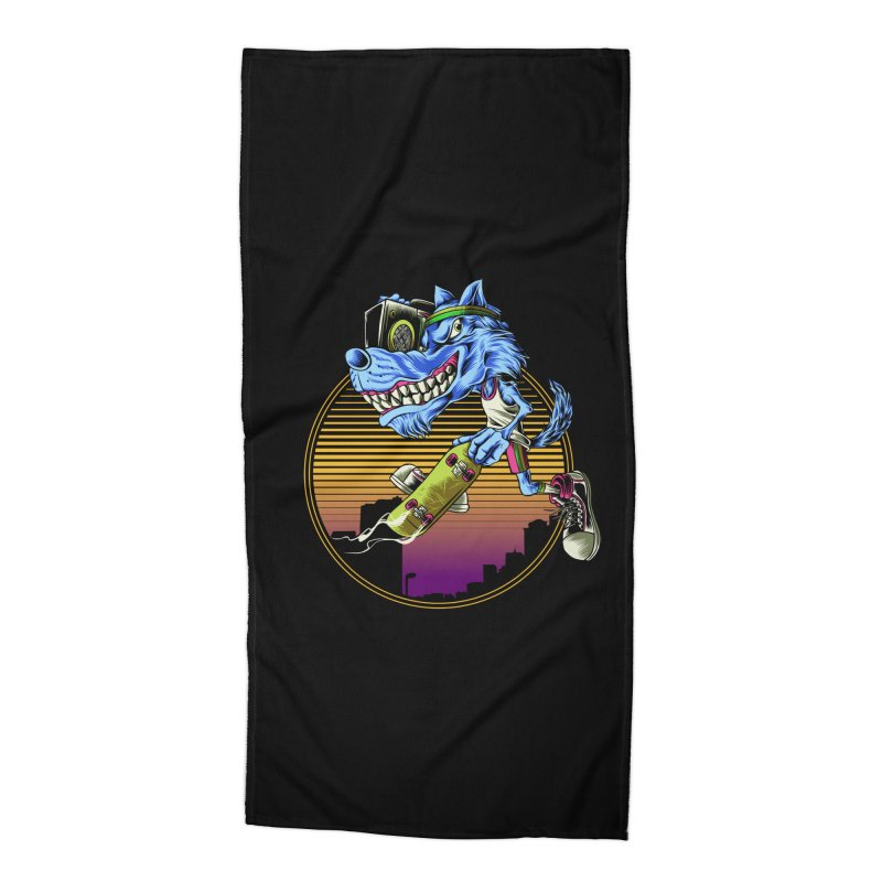 Air Wolf Accessories Beach Towel by monochromefrog