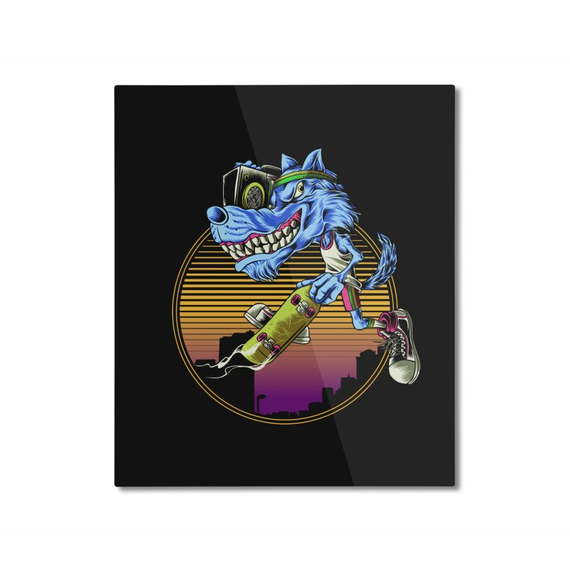 Air Wolf Home Mounted Aluminum Print by monochromefrog