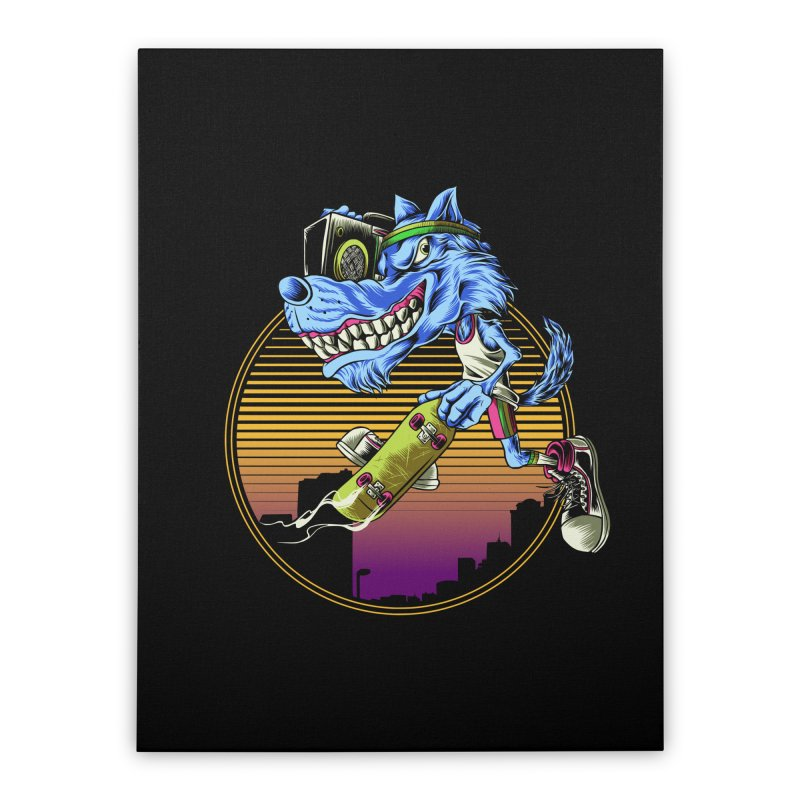 Air Wolf Home Stretched Canvas by monochromefrog