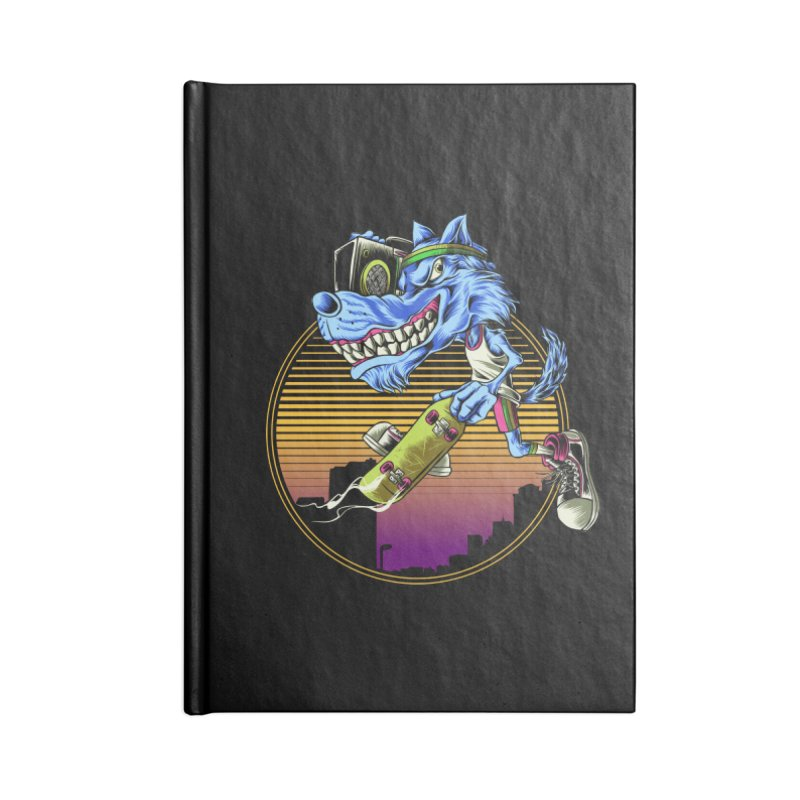 Air Wolf Accessories Lined Journal Notebook by monochromefrog